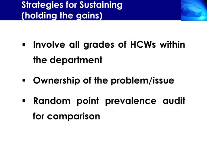 Strategies for Sustaining