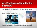 are employees aligned to the strategy