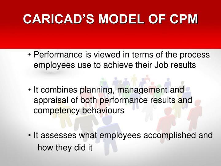 CARICAD'S MODEL OF CPM