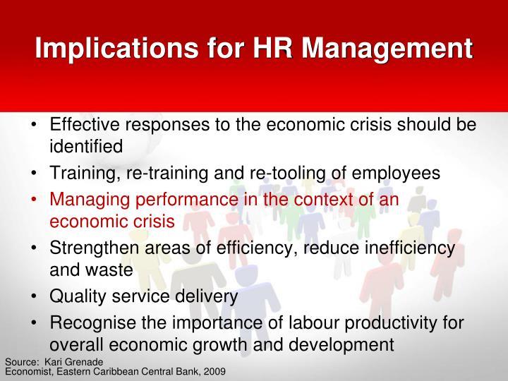 Implications for HR Management