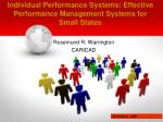improving individual performance systems effective performance management systems for small states