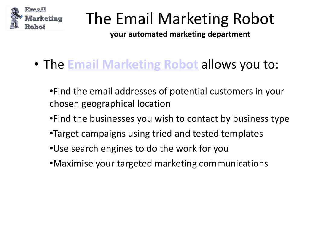 The Email Marketing Robot