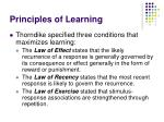 principles of learning