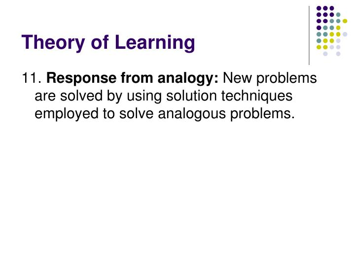 Theory of Learning