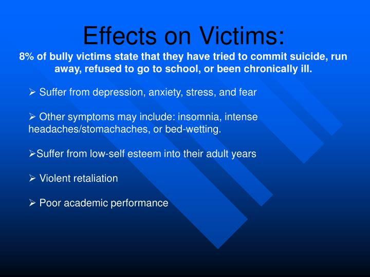 Effects on Victims: