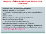 impacts of human genome research to medicine