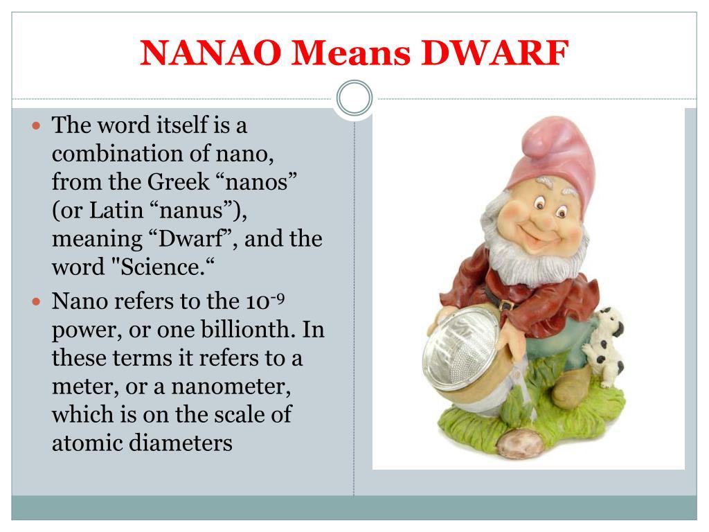 NANAO Means DWARF