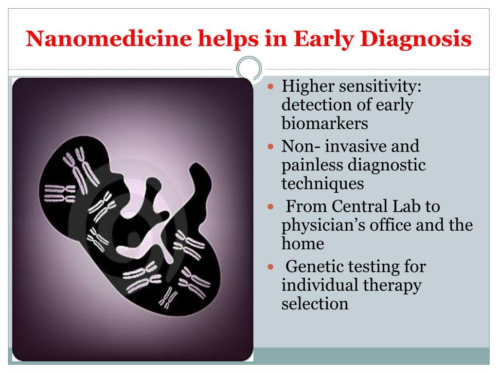 Nanomedicine helps in Early Diagnosis