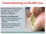 nanotechnology in health care36