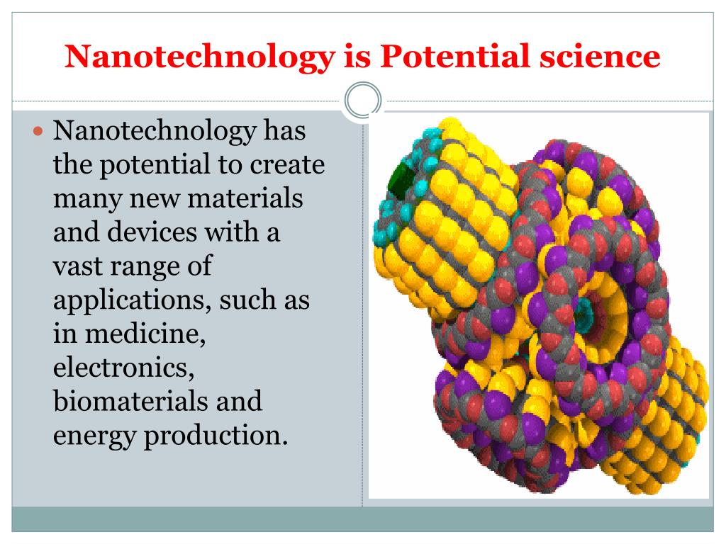 Nanotechnology is Potential science