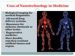uses of nanotechnology in medicine