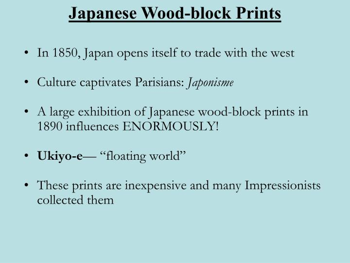 In 1850, Japan opens itself to trade with the west