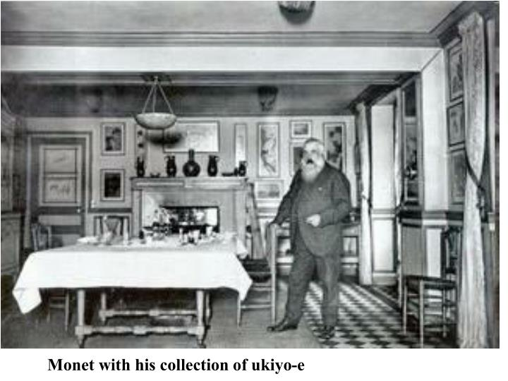 Monet with his collection of ukiyo-e