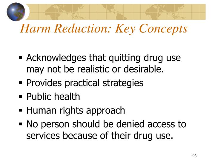 Harm Reduction: Key Concepts