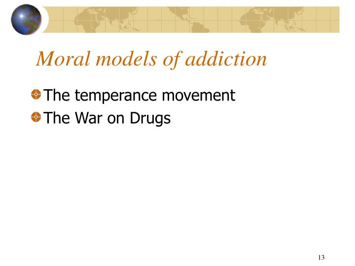 Moral models of addiction