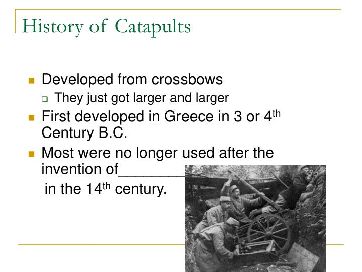 History of catapults