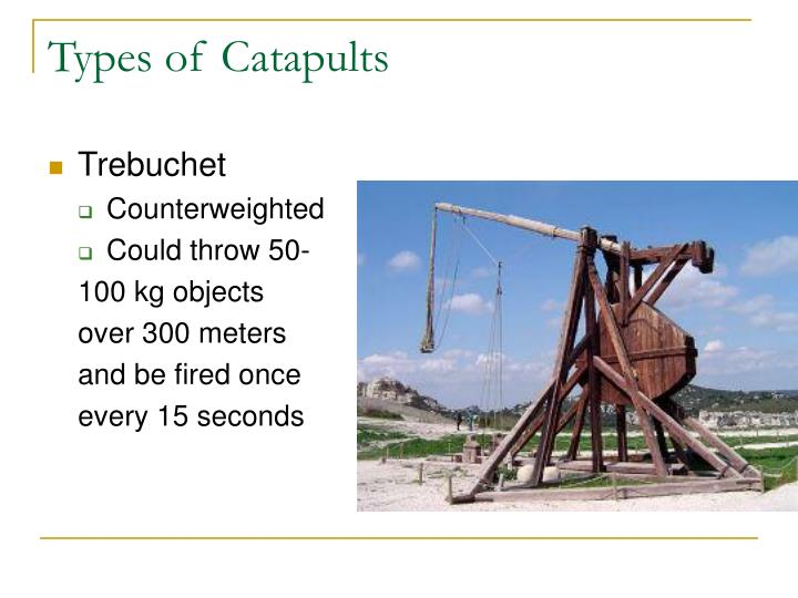 Types of Catapults