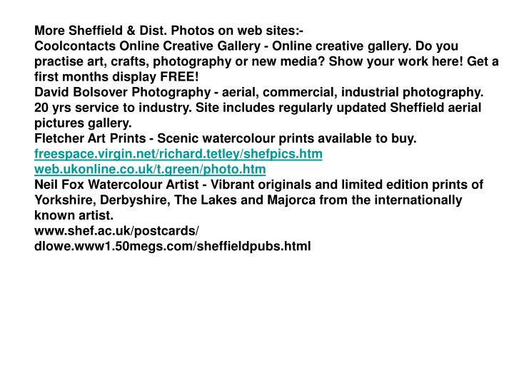 More Sheffield & Dist. Photos on web sites:-