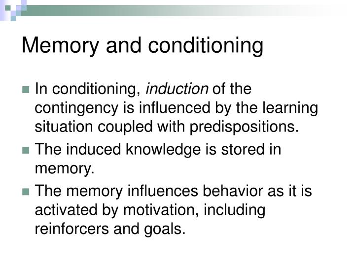 Memory and conditioning