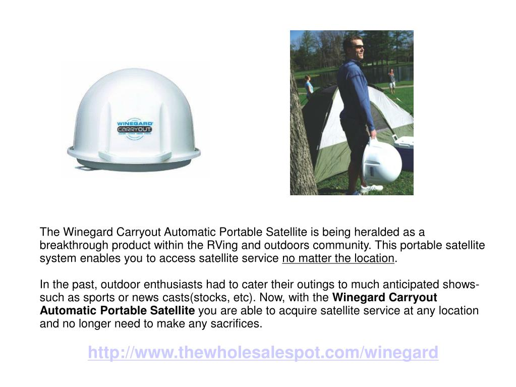 The Winegard Carryout Automatic Portable Satellite is being heralded as a breakthrough product within the RVing and outdoors community. This portable satellite system enables you to access satellite service