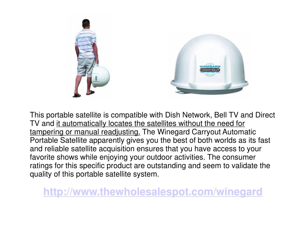 This portable satellite is compatible with Dish Network, Bell TV and Direct TV and