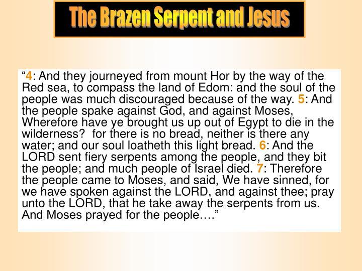 The Brazen Serpent and Jesus