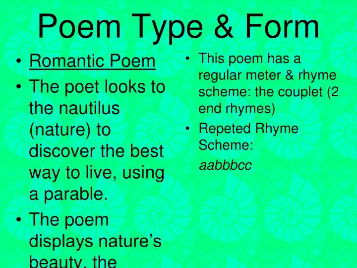 Poem Type & Form