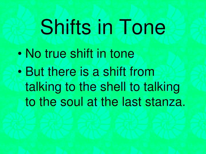 Shifts in Tone