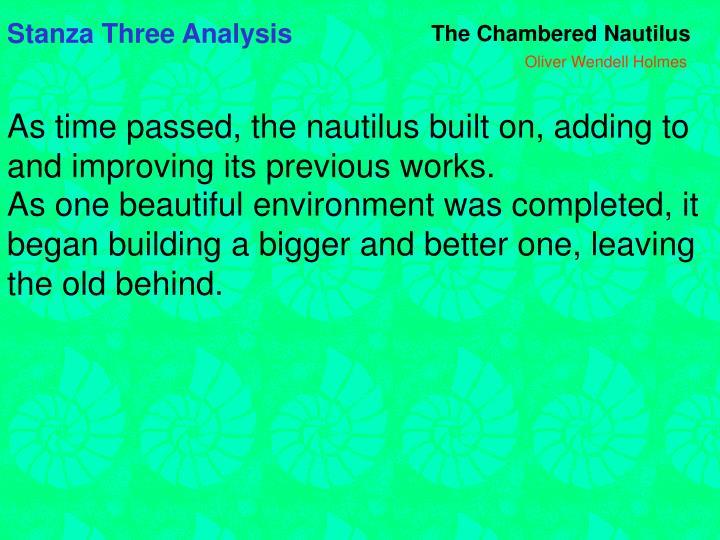 Stanza Three Analysis