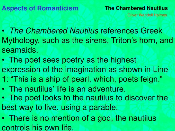Aspects of Romanticism