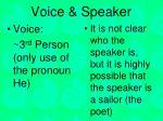 voice speaker