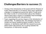 challenges barriers to success 1