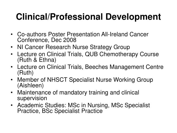 Clinical/Professional Development