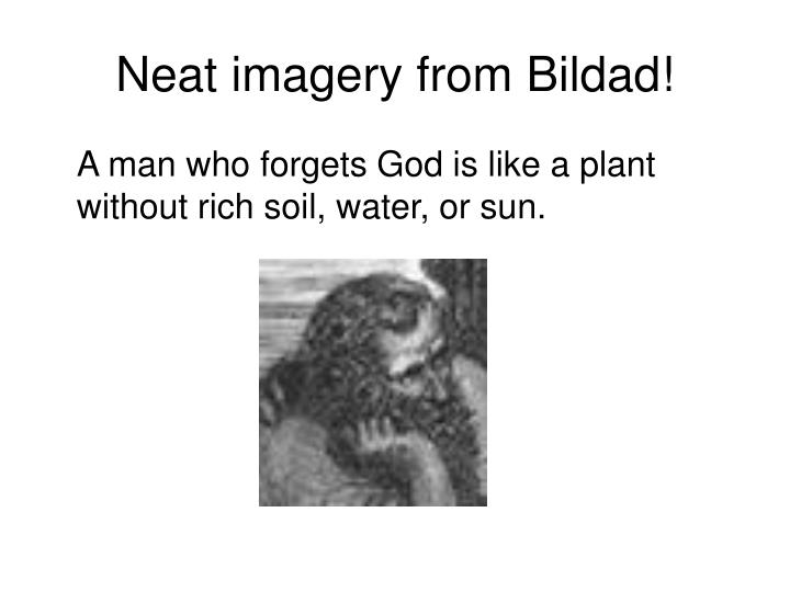 Neat imagery from Bildad!