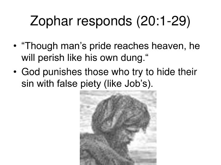 Zophar responds (20:1-29)