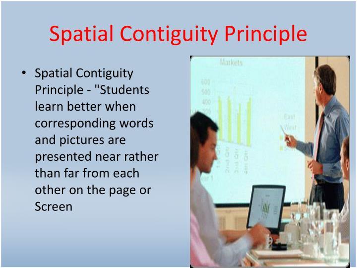 Spatial Contiguity Principle