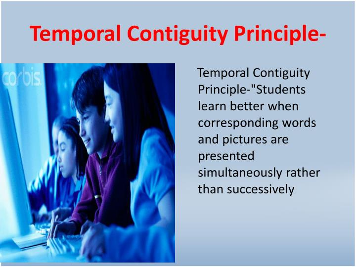 Temporal Contiguity Principle-