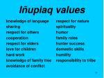 i upiaq values