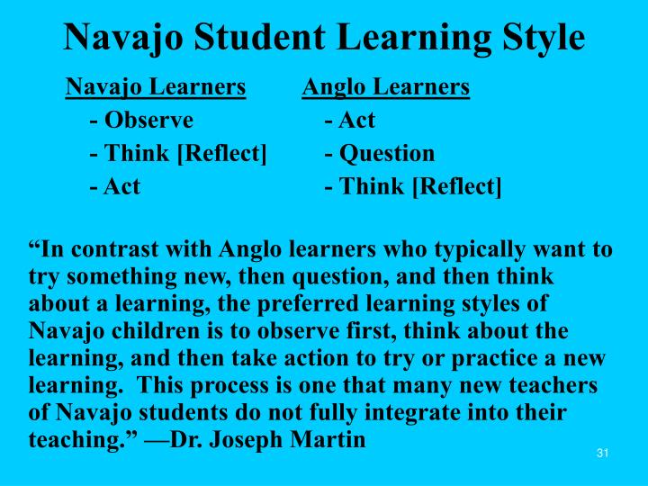 Navajo Student Learning Style