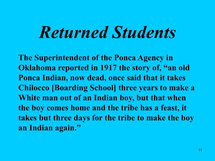 Returned Students