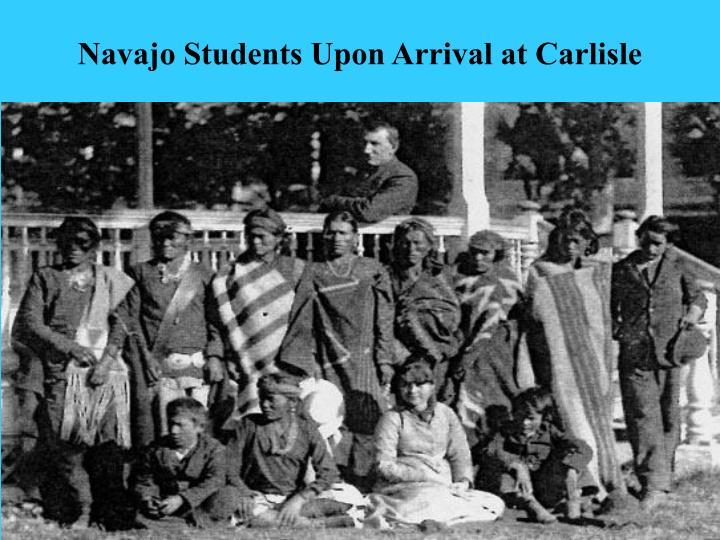 Navajo Students Upon Arrival at Carlisle