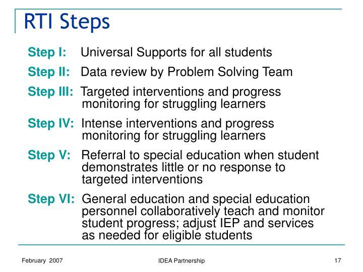 RTI Steps