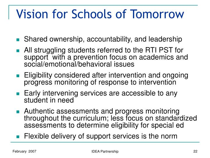 Vision for Schools of Tomorrow