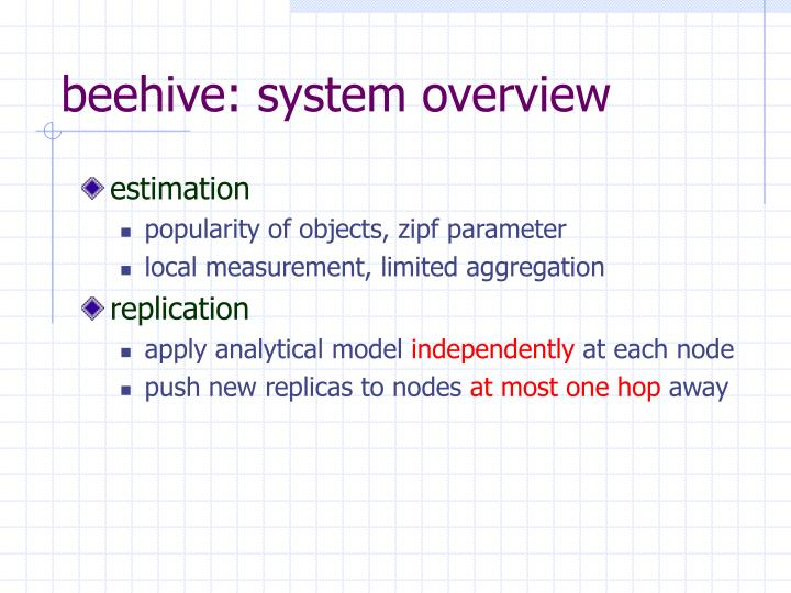 beehive: system overview