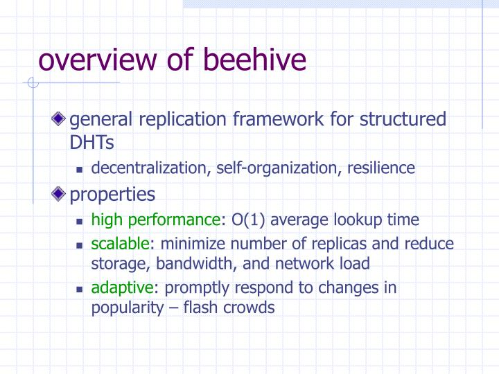 overview of beehive