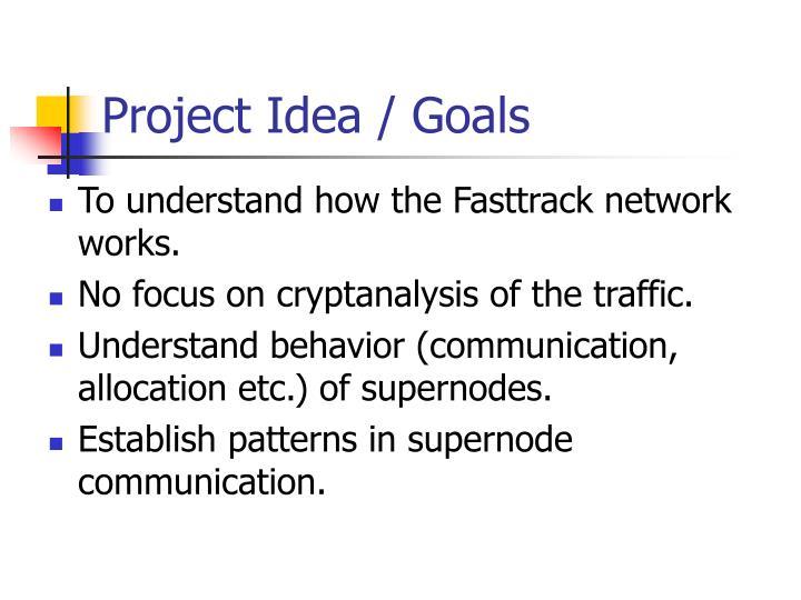 Project Idea / Goals