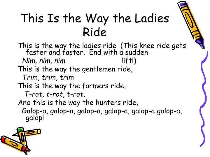 This Is the Way the Ladies Ride