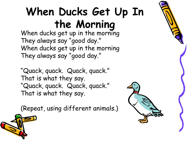When Ducks Get Up In the Morning