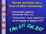social activities are a form of bible fellowship