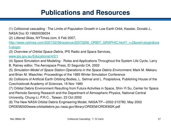 Publications and Resources